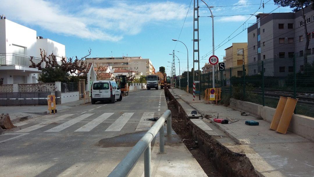 Construcción de una red de pluviales en la C/Carles Roig de Salou