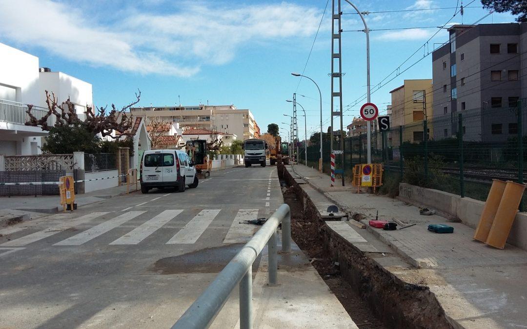 Construcció d'una xarxa de pluvials al C/Carles Roig de Salou