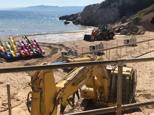 Servei de restitució i protecció de la sorra de les platges